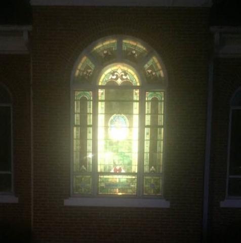 UCC Church NIte Light...Thanks Mary!